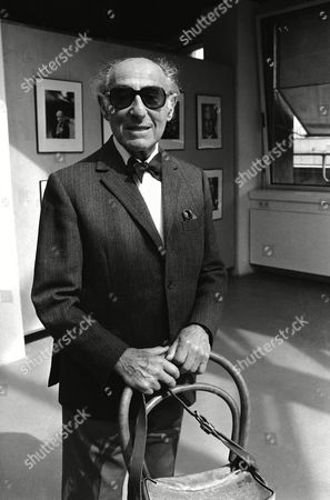 Stock Image Of German American Photographer And Photojournalist Alfred Eisenstaedt Is Seen At The Opening