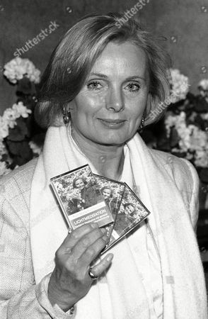 German actress Ruth Maria Kubitschek presents her meditation tapes on at the Logenhaus in Hamburg, Germany