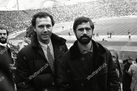 Franz Beckenbauer; Gerd Mueller; Gerd Muller Former German soccer stars Franz Beckenbauer, left and Gerd Mueller meet in the stands of the Olympic stadium in Munich, Germany on the occasion of the match FC Bayern Munich vs Hamburger SV on