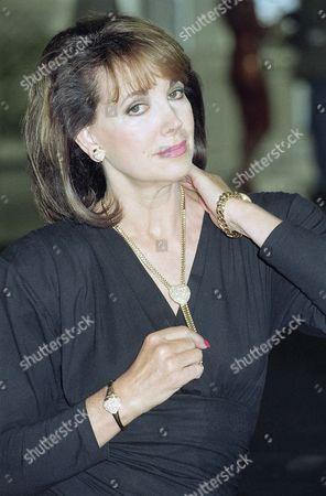 "Stock Photo of Petra Schuermann German actress Petra Schuermann presents the gold jewellery set ""Laudier of Geneva"" on in Munich, Germany on the international fair ""Inhorgenta"