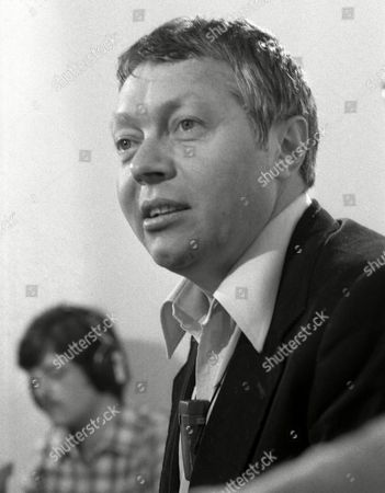 "Stock Photo of ROLF SCHNEIDER Rolf Schneider, writer of former East Germany, answers questions during a press conference in Mainz, West Germany, early October, 1979, after presenting his latest book ""November&quot"