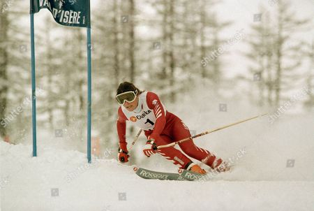 Editorial image of Giant Slalom Nelson, Val-d'Isere, France