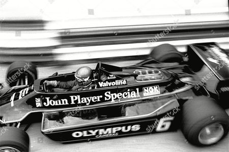 Ronnie Peterson of Sweden is shown during the France Grand Prix on