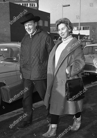 Jazz band leader Chris Barber and his singer wife, Ottilie Patterson arrive at London airport, United Kingdom on from Zurich after appearing in the Swiss city