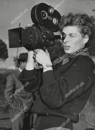 """Ingrid Bergman Actress Ingrid Bergman tries out a handheld movie camera between scenes of a film she is making under the direction of her husband Roberto Rossellini in Santa Marinella, a seaside resort 50 miles north of Rome, Italy, . The new film, called """"We, the Women,"""" is in four parts and tells the story of four actresses: Bergman; Anna Magnani; Isa Miranda and Alida Valli. Bergman's and Rossellini's son, Robertino, and Rossellini's son by previous marriage, Renza, have minor roles in the production, together with """"Bijou,"""" a Shetland pony"""