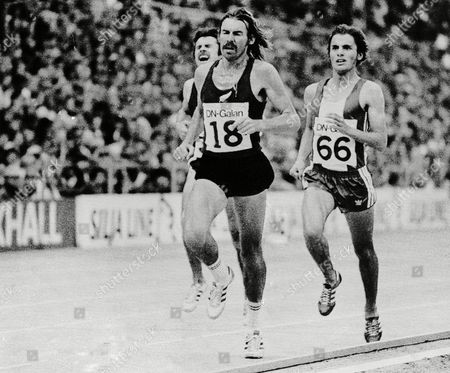 Dick Quax, Karl Fleschen, Rod Dixon New Zealand's Dick Quax (18) leads West Germany's Karl Fleschen, right, and fellow New Zealander Rod Dixon, left, in the 5,000-meter event of the International Track and Field meet in Stockholm, . Quax went on to set a new world record of 13:12.86 in the event. Dixon, injured, did not finish