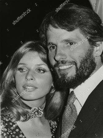 "Austrian actress Senta Berger and Italian actor Giuliano Gemma pose together during a party staged in Rome, Italy to celebrate the start of the shooting of ""Quando le Donne avevano la Coda"" (When Women had a Tail), directed by Pasquale Festa-Campanile, with the two artists in the starring parts"