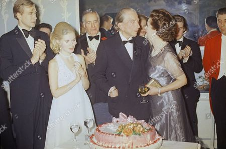 Paul Getty J. Paul Getty celebrates his 80th birthday at a party at the Dorchester Hotel in London on . Among the dignitaries that were there: Patricia Cox, Dau. of President Nixon, Ambassador Walter Annenberg, Ex-King Umberto of Italy, the Dutchess of Argyll, Margaret, who have the party and Charles Clore, millionaire financier, and others