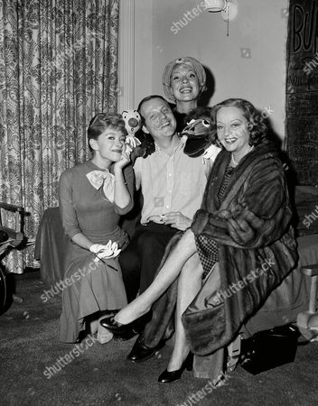 "Shari Lewis, Carol Channing and Tallulah Bankhead turned out for the Broadway opening of ""Kukla, Burr and Ollie"" in the new Kuklapolitan Room of the Hotel Astor on . Burr Tillstrom, also pictured, is the creator of the famed puppets who got their start on TV"