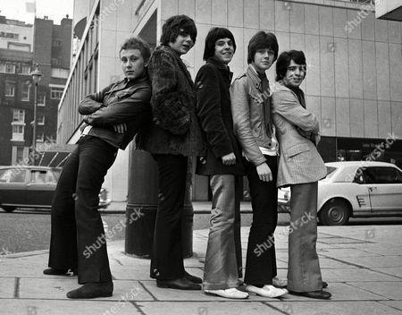 Steve Ellis, 17, left, the only member of the British pop group the 'Love Affair' who actually performed on the group's record, 'Everlasting Love' with the rest of the group after a press reception at the London Hilton, London on . Other members of the 'Love Affair' are from second left to right: Maurice Bacon, 16, Michael Jackson, 18, Lynton Guest, 17, and Rex Brayley, 19