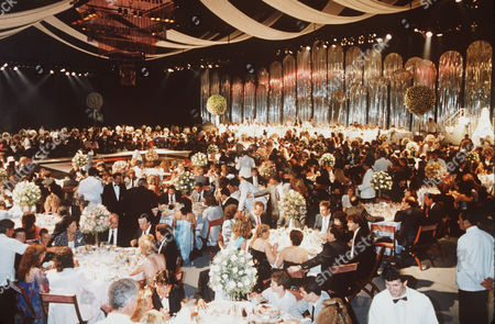 General view of the wedding reception at the wedding of famous Argentine soccer player Diego Maradona and Claudia Villafane
