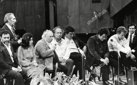 Zubin Mehta Conductor Zubin Mehta, 1eft, with seven of the world greatest violinists Ida Haendal (2nd left), Isaac Stern, Ivry Gitlis, Pinchas Zukerman, Itzhak Perlman and Shlomo Mintz and Dr. Steven Paul, right, during a press conference held in Tel Aviv, Israel on