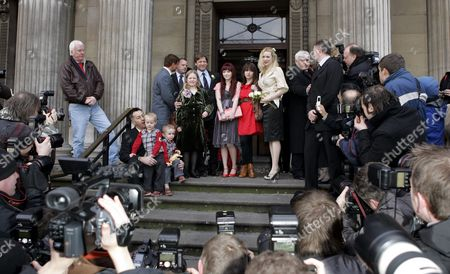 Sean Bean, Georgina Sutcliffe and families