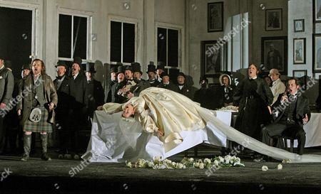 Barry Banks as Edgardo, Anna Christy as Lucia and Mark Stone as Enrico Ashton