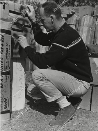 Mountaineer James Whittaker, 34, of Redmond, Washington State, USA, checks some of the Mount Everest expedition equipment February 1963 in Banepa, Nepal. On May 1st, 1963 Whittaker was the first U.S. American to reach the peak of Mount Everest with sherpa Nwang Gombu