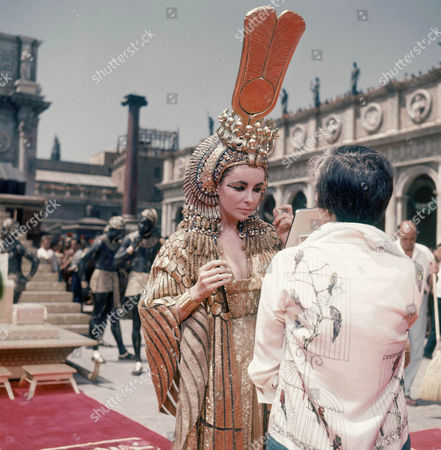 "Taylor Actress Elizabeth Taylor on the set of the movie ""Cleopatra,"" in Rome. Publicist Sally Morrison says the actress died in Los Angeles of congestive heart failure at age 79"