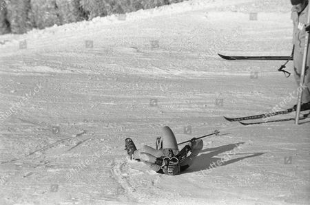 Editorial image of Olympic Winter 1976 Innsbruck Austria Accident Training, Innsbruck, Austria