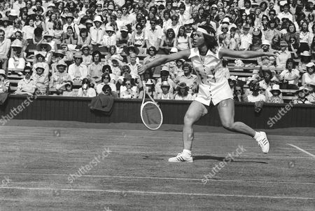 Rosemary Casals Rosemary Casals, San Francisco, Calif., on the Center Court on her way to an exciting victory over Australia's Leslie Hunt in the second round women's singles of the Wimbledon Lawn Tennis championships in London on
