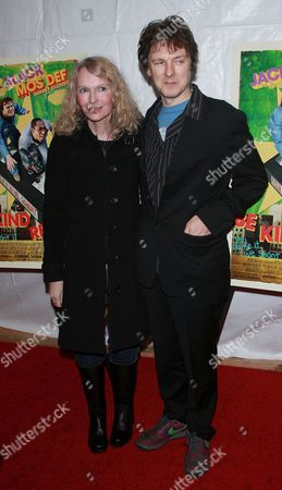 Stock Image of Mia Farrow and Michael Gondry