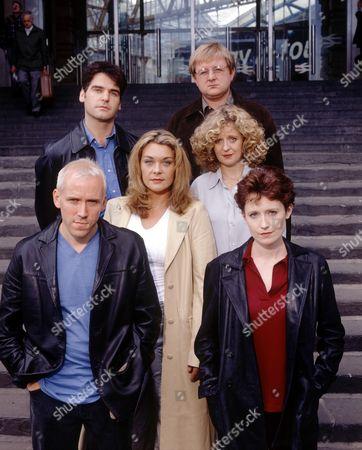 back two. Mark Aiken,  Roger Morlidge, centre two. Samantha Beckinsale, Regina Freedman, front two. Ben Miller, Zara Turner in 'The Blind Date'