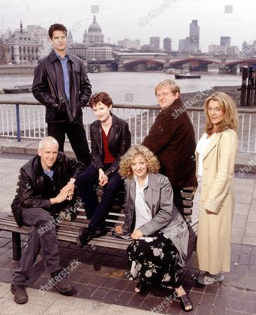 L-R.  Ben Miller, Mark Aiken, Zara Turner, Regina Freedman, Roger Morlidge and Samantha Beckinsale in 'The Blind Date'