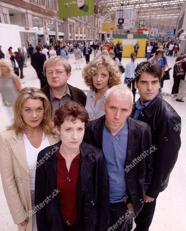 L-R.Samantha Beckinsale, Roger Morlidge, Zara Turner, Regina Freedman, Ben Miller and Mark Aiken in 'The Blind Date'