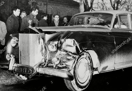 This is the Rolls Royce that belongs to actress Sophia Loren, shown after it was involved in a car accident on highway near Ferli's central Italy, . The actress was returning to Rome after having participated in wedding ceremony of her sister Anna Maria Scicolone to Romane Mussolini. Sophia was unhurt in the crash