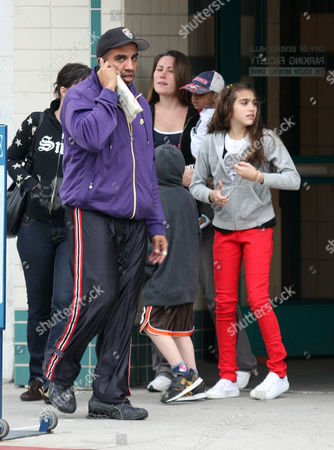 Rocco Ritchie, David Banda and Lourdes Maria Ciccone Leon with their nannies and bodyguard