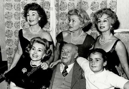 THE GABOR FAMILY This is a photo of the Gabor family posing in Vienna, Austria on . From left are: Zsa Zsa, Papa Vilmos Gabor, Francesca Hilton, Zsa Zsa's daughter. Standing behind are: Magda, Mama Jolie and Eva