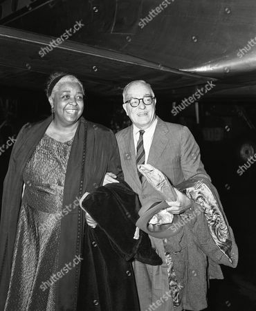 Stock Image of Thornton Wilder, Ethel Waters Thornton Wilder and American actress and singer Ethel Waters after their arrival on West Berlin's Tempelhof airport