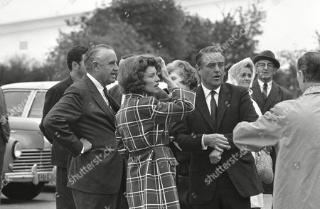 Sargent Shriver, Eunice Kennedy Shriver U.S. Ambassador to France Sargent Shriver, right, and his wife Eunice, sister of slain Sen. Robert Kennedy, wait with U.S. Ambassador-at-large Averell Harriman for the plane which will fly them to New York from Bretigny airport, outside Paris, . Ambassador Harriman stayed in Paris