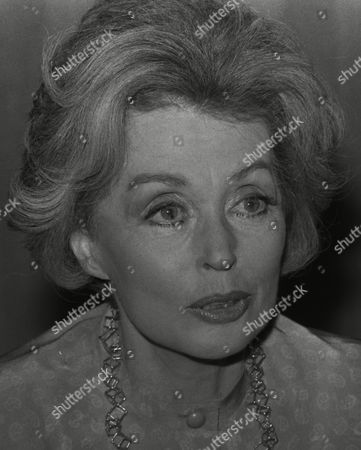 Portrait of German actress and writer Lilli Palmer (Lilli Maria Peiser) pictured during her meeting with West German Chancellor Helmut Schmidt in Bonn, West Germany, where she made a TV interview with Schmidt