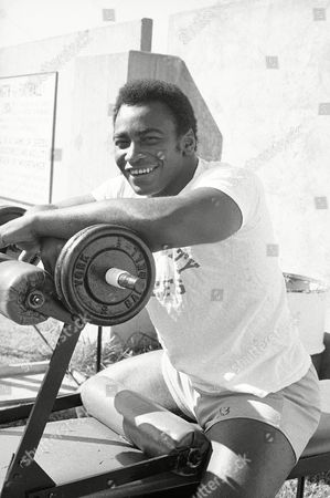 Willie Lanier Willie Lanier, Kansas linebacker, has been named the NFL Defensive Player of Associated Press. Here he pauses during weight-lifting workout