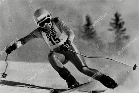 Cindy Nelson Cindy Nelson, '19, of Lutsen, Minn., is shown in action en route to winning The women's World Cup downhill race at Saalbach, Austria, . Ms. Nelson completed the 2,700-meter trail in 1 minute, 36.26 seconds