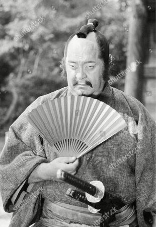 """Mostel American comedian-actor Zero Mostel portrays a Samurai in a dream sequence during filming of """"Mastermind"""" in Kyoto, Japan"""