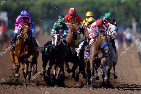 Mario Gutierrez Mario Gutierrez, left, rides Champagne Room to victory in the Breeders' Cup Juvenile Fillies horse race at Santa Anita, in Arcadia, Calif