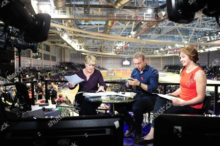 Sir Chris Hoy and Joanna Rowsell Shand Clare Balding