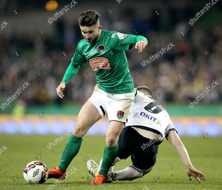 Cork City vs Dundalk. Cork's Sean Maguire and Stephen O?Donnell of Dundalk
