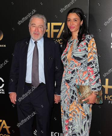 Stock Photo of Robert De Niro and Drena De Niro