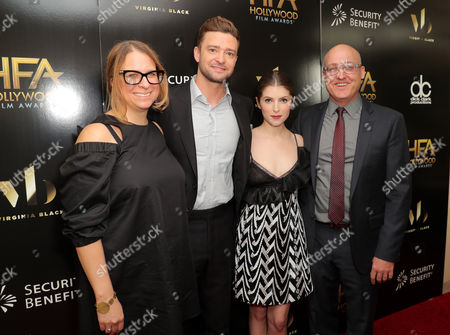 Stock Photo of Gina Shay, Justin Timberlake, Anna Kendrick and Mike Mitchell