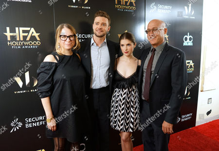 Gina Shay, Justin Timberlake, Anna Kendrick and Mike Mitchell