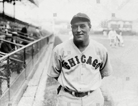 Stock Photo of Lewis Wilson, a star centerfielder and long distance hitter for the Chicago Cubs, poses for a photo on . Wilson is setting the pace in the National League Pennant Race and at the stage of the season looks like a pennant winner