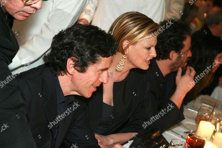 Peter Morton, Linda Evangelista and Brett Ratner
