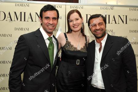 Dr. Reza Jarrahy, Geena Davis and Giorgio Damiani
