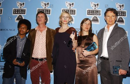Stock Image of 'I'm Not There' cast - Marcus Carl Franklin, Todd Haynes, Cate Blanchett