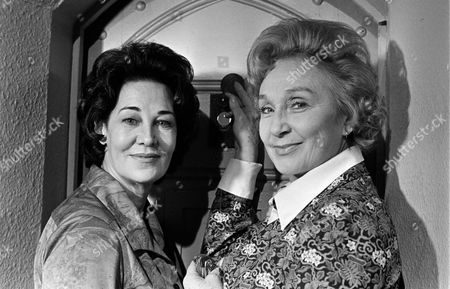 Katherine Blake (left) with Googie Withers in 'Within These Walls'