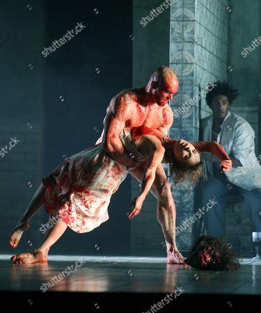 Nadja Michael (Salome) and Duncan Meadows (Executioner)