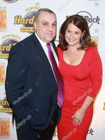 Vincent Curatola and Lorraine Bracco