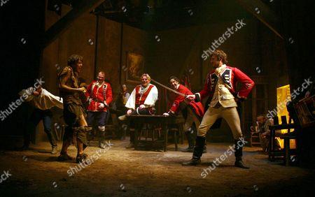 Tom Burke as Dermot fighting Edward Macliam as Capt Farrell