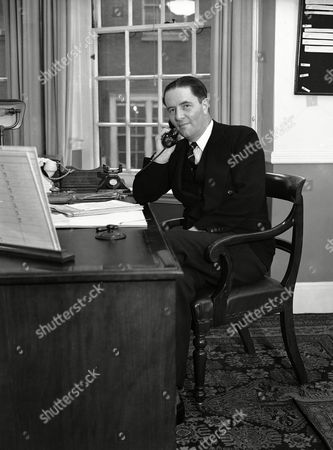 Robert Hudson, Secretary for Overseas Trade for Britain, who will lead the trade delegation to Moscow and other Northern capitals next month, photographed in his London office, on
